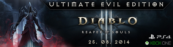 Diablo 3 Ultimate Evil Edition na PS4, XBOX One, PS3 a XBOX 360!
