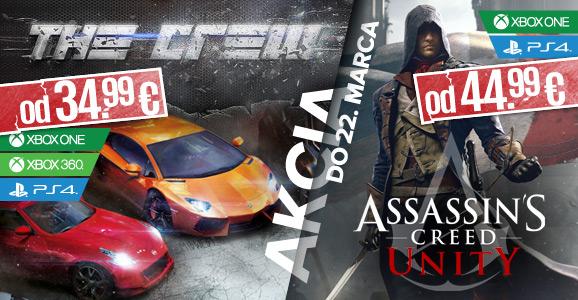 AKCIA! Assassin's Creed: Unity a The Crew za super ceny!