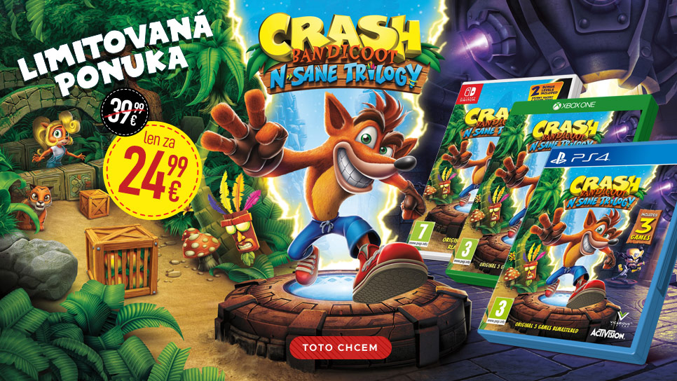 Akcia Crash Bandicoot