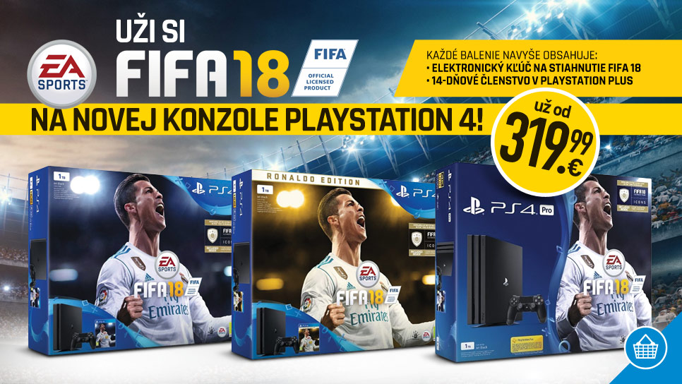 Super konzoly PlayStation 4 s FIFA 18