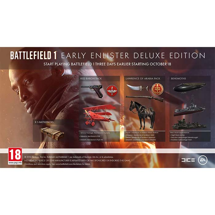 Battlefield 1 (Early Enlister Deluxe Edition)