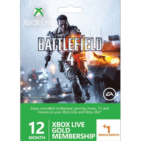 12+1 month Xbox LIVE Gold Membership (Battlefield 4 Edition)