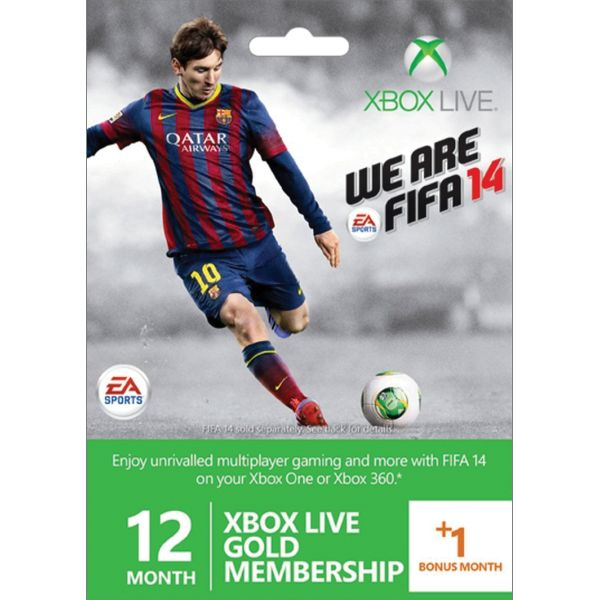 12+1 month Xbox LIVE Gold Membership (FIFA 14 Edition)