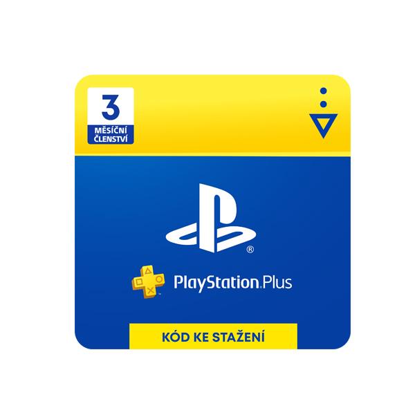 PlayStation Plus 3 mesiace - darčeková karta CZ
