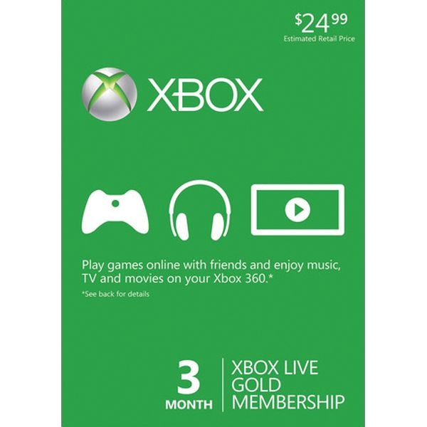 3 month Xbox LIVE Gold Membership US