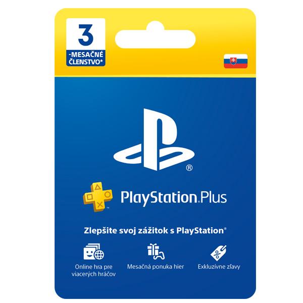 PlayStation Plus predplatné na 90 dní SK