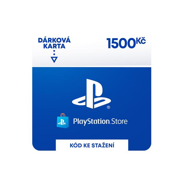 PlayStation Store - darčekový poukaz 1500 Kč