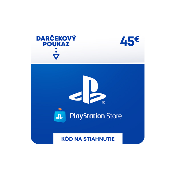 PlayStation Store 45€ - elektronická peňaženka