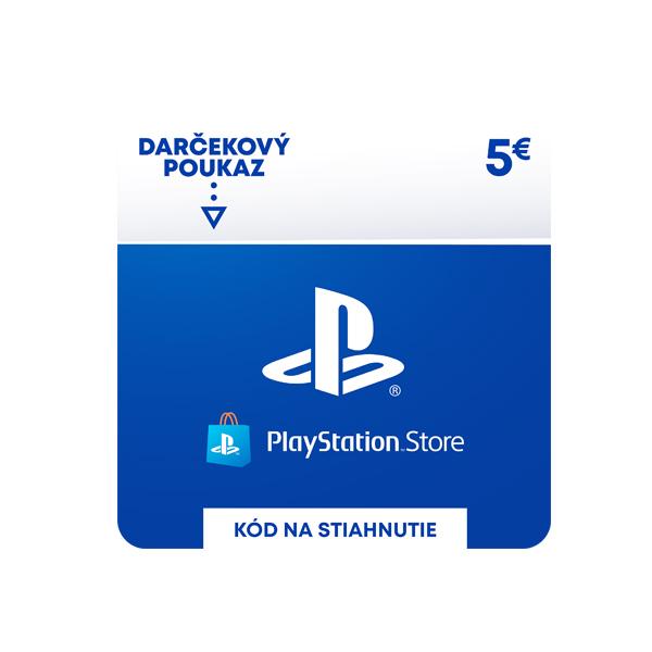 PlayStation Store 5€ - elektronická peňaženka