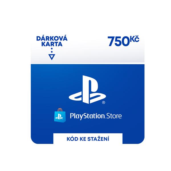 PlayStation Store - darčekový poukaz 750 Kč