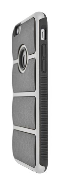 4-OK COVER CHROME IRON FOR IPHONE 6 BLACK - SILVER