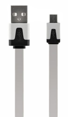 4-OK DATA & CHARGE CABLE USB - MICRO USB, WHITE