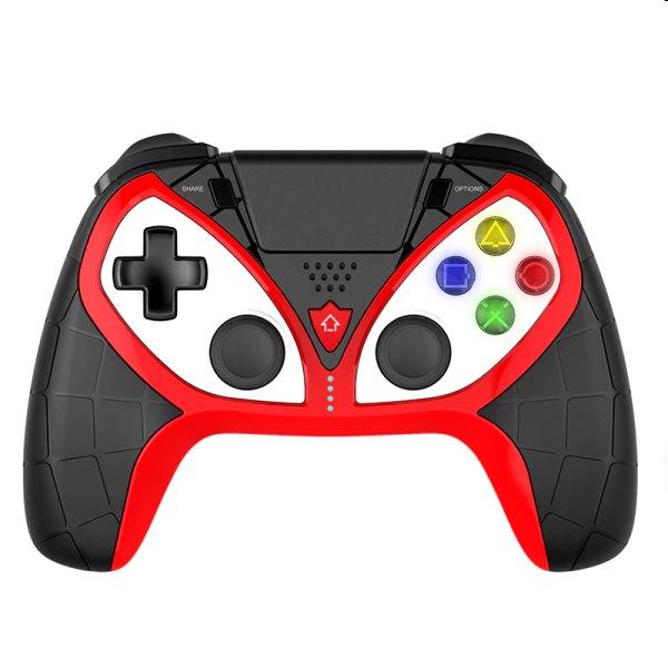 iPega 4012 bezdrôtový herný ovládač pre PS4/PS3/iOS/Android/Windows, black/red PG-P4012A