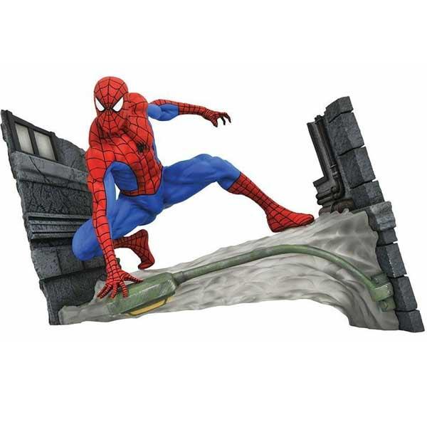 Figúrka Spider Man Comic Webbing Diorama (Marvel)