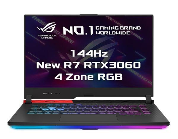 "ASUS ROG Strix G15 G513QM-HN011T R7-5800HS, 16GB , 512GB SSD, RTX3060 (6GB), 15,6"" FHD IPS, Win10, OriginalBlack G513QM-HN011T"