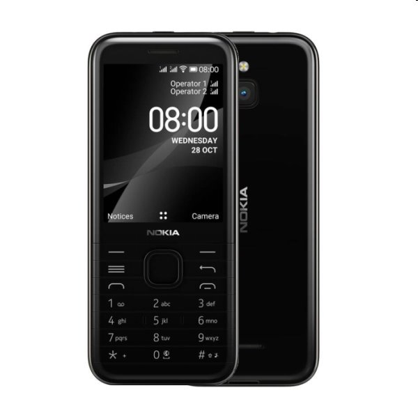 Nokia 8000 Dual Sim, black
