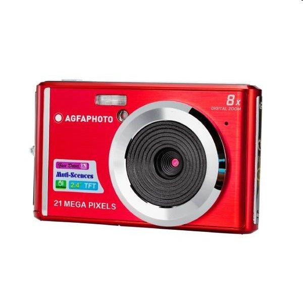 Fotoaparát AgfaPhoto Compact DC 5200, červený