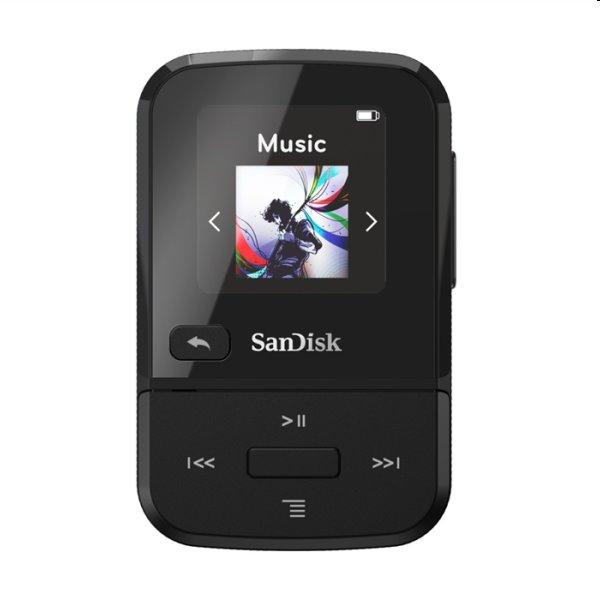 Prehrávač SanDisk MP3 Clip Sport Go 16 GB, čierny SDMX30-016G-E46R