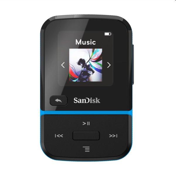 Prehrávač SanDisk MP3 Clip Sport Go 16 GB, modrý SDMX30-016G-E46B