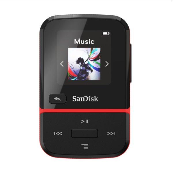 Prehrávač SanDisk MP3 Clip Sport Go 32 GB, červený SDMX30-032G-E46R