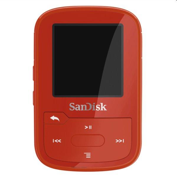 Prehrávač SanDisk MP3 Clip Sport Go Plus 16 GB, červený SDMX28-016G-G46R