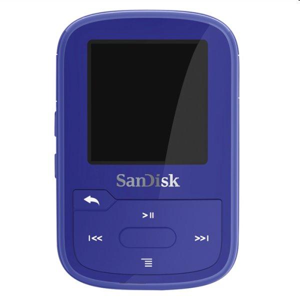 Prehrávač SanDisk MP3 Clip Sport Go Plus 16 GB, modrý SDMX28-016G-G46B