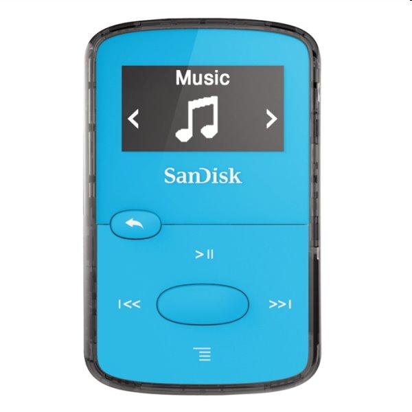 Prehrávač SanDisk MP3 Sansa Clip JAM 8GB, modrý SDMX26-008G-G46B