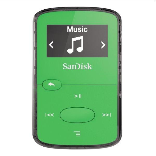 Prehrávač SanDisk MP3 Sansa Clip JAM 8GB, zelený SDMX26-008G-G46G