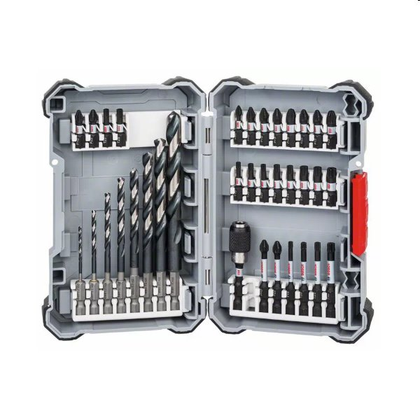 Bosch 35 dielna sada špirálových vrtákov a bitov Impact Control HSS 2607017567