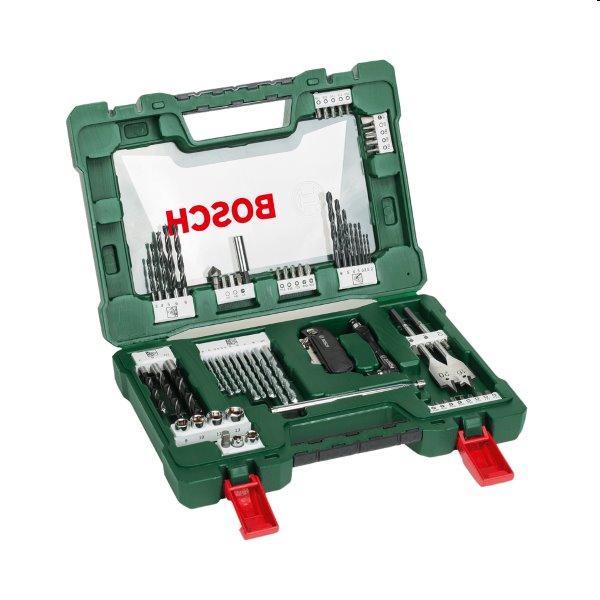 Bosch 68 dielna sada vrtákov a skrutkovacích bitov so skladacím nožom, magnetickou tyčkou a uhlovým skrutkovačom V-Line 2607017191