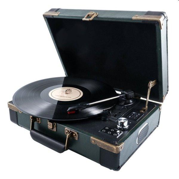 Gramofón GPO Ambassador, zeleno - modrý GPO13