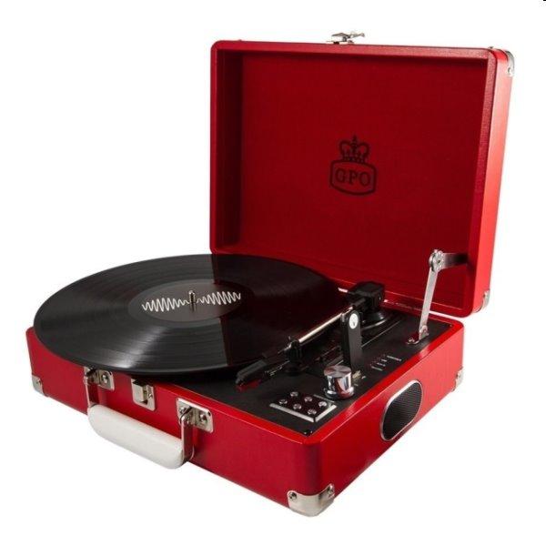 Gramofón GPO Attache, červený GPO06