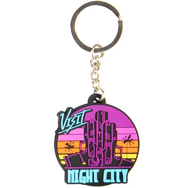 Kľúčenka Visit Night City (Cyberpunk 2077)
