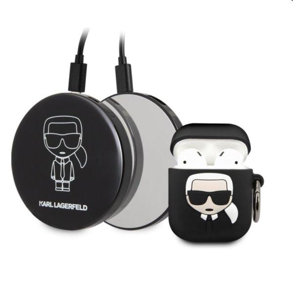 Karl Lagerfeld Iconic bundle - obal a powerbank pre Apple AirPods 1/2