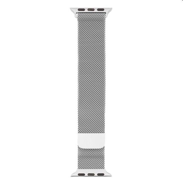 Nerezový remienok COTEetCI Milanese loop pre Apple Watch 38/40/41mm, strieborný