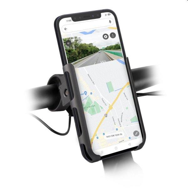 SBS Hliníkový držiak PRO E-Go pre elektrické kolobežky a bicykle, čierny TEERIDEHOLDMETPRO