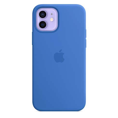 Apple iPhone 12   12 Pro Silicone Case with MagSafe, capri blue MJYY3ZM/A