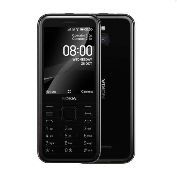 Nokia 8000, 4G, Dual SIM, black - OPENBOX (Rozbalený tovar s plnou zárukou) 8000 4G DS Black