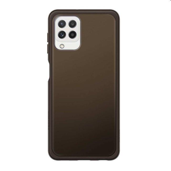 Puzdro Clear Cover pre Samsung Galaxy A22 - A225F, black (EF-QA225T)
