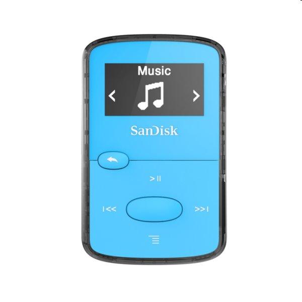 Prehrávač SanDisk MP3 Clip Jam 8 GB MP3, modrý SDMX26-008G-E46B