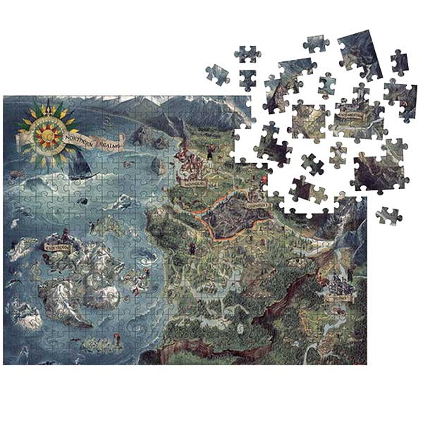 Puzzle Witcher World Map (The Witcher) DAR003215