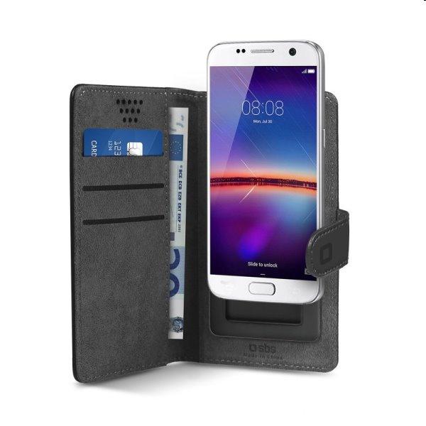 """Puzdro SBS Book Case Slide pre smartfóny do 5"""", čierne TEBOOKSLID50K"""