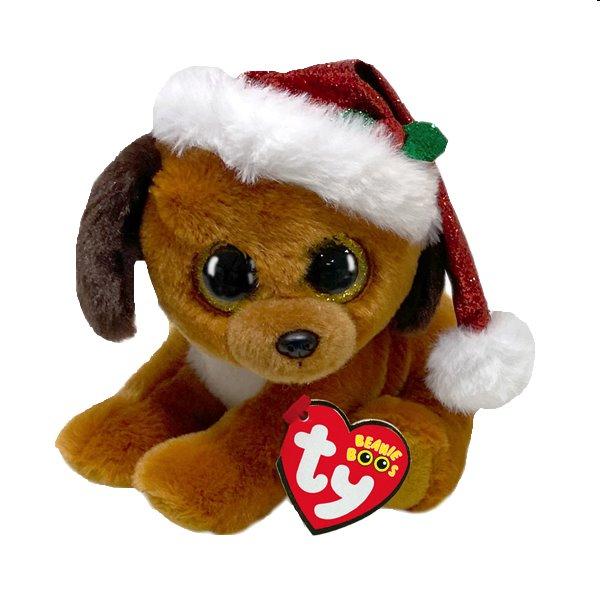 TY Plyšový pes s čiapkou , HOWLIDAYS 15 cm TY_36240