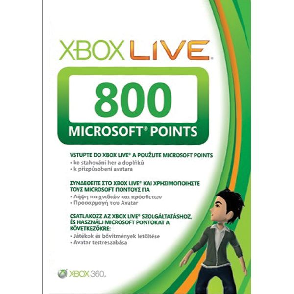 800 Microsoft Points Xbox LIVE