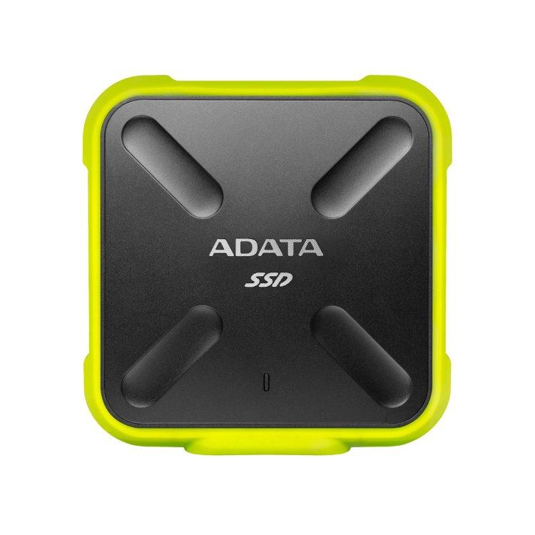 A-Data SSD SD700, 256GB, USB 3.2 - rýchlosť 440/430 MB/s (ASD700-256GU31-CYL), Yellow ASD700-256GU31-CYL