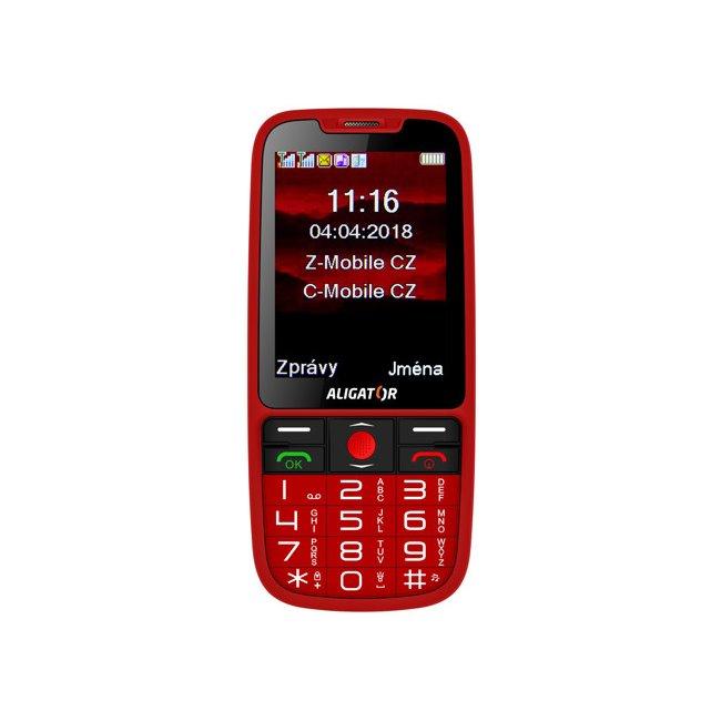 Aligator A890 GPS Senior, Dual SIM, červený A890RD