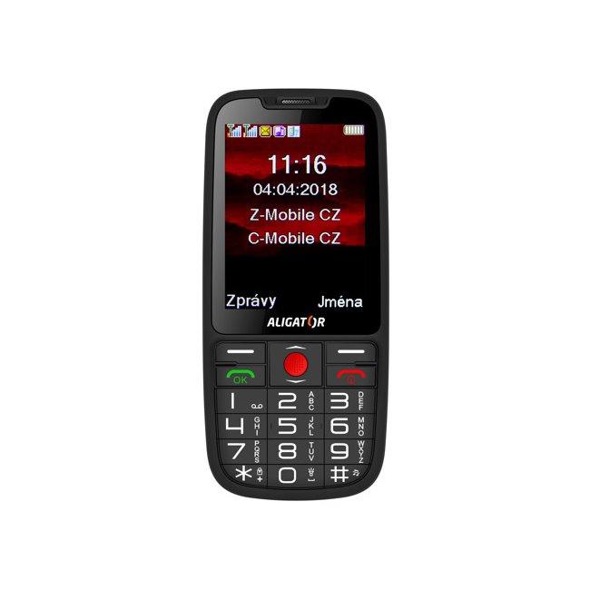 Aligator A890 GPS Senior, Dual SIM, čierny A890BK