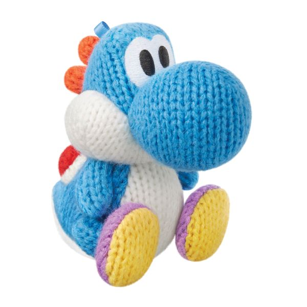 amiibo Light Blue Yarn Yoshi (Yoshi's Woolly World)