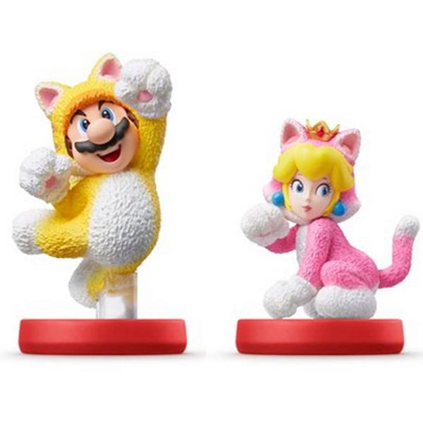 amiibo Cat Mario & Cat Peach (Super Smash Bros.)