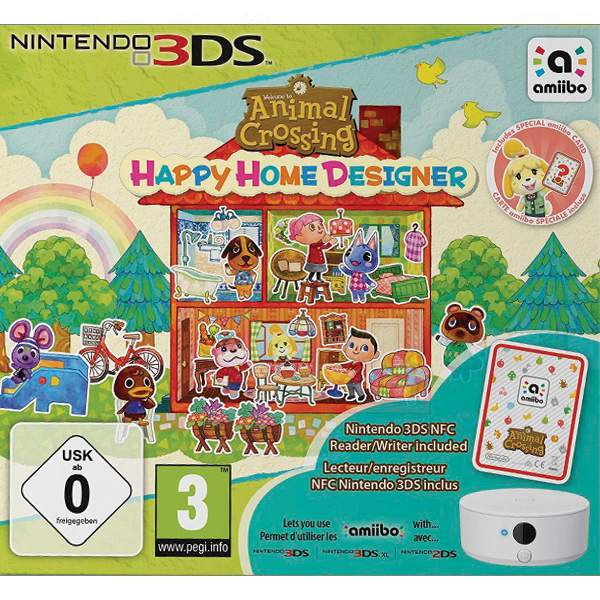 Animal Crossing: Happy Home Designer with Nintendo 3DS NFC Reader/Writer